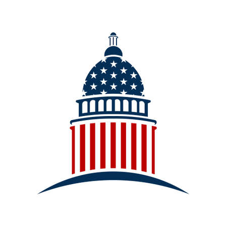 Amerikanische Capitol. Vektor-Grafik-Design Standard-Bild - 57657869
