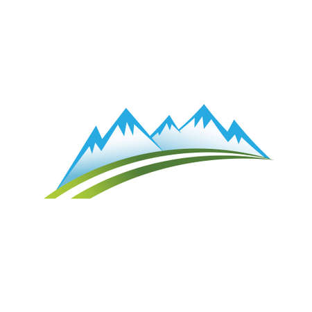 colorado mountains: Mountain zone, road . Vector graphic design Illustration