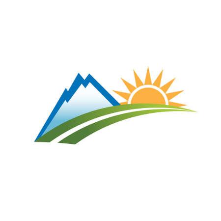 colorado rocky mountains: Mountain outdoor recreation . Vector graphic design