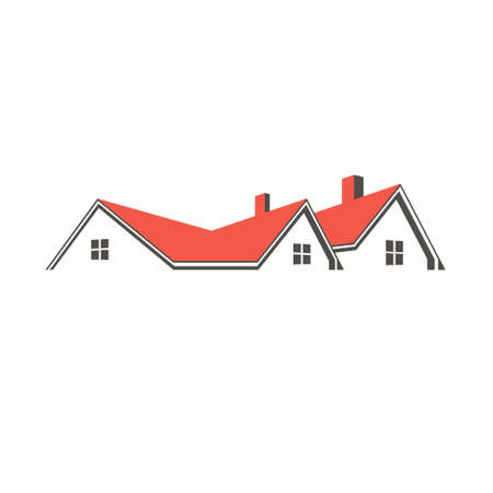 roof top: Roof top houses . Vector graphic design Illustration
