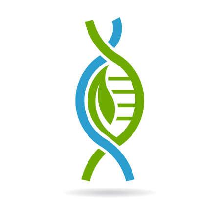 adn: ADN Biología. Vector de diseño gráfico