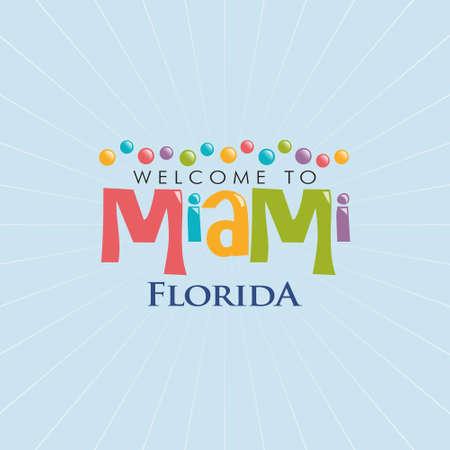 miami south beach: Miami Florida Illustration. Vector graphic design