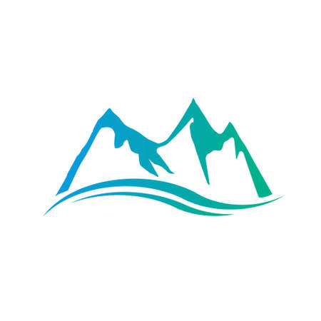 eruption: Mountains Peaks icon. Vector graphic design