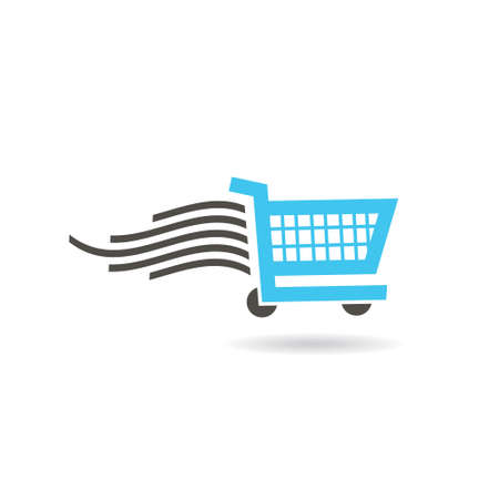shopping cart icon: Fast Shopping Cart icon. Vector graphic design