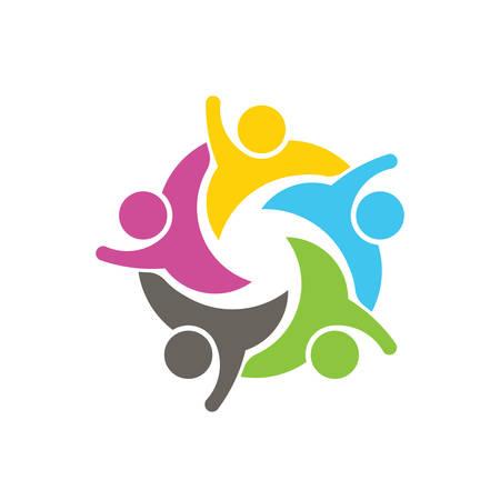 apoyo social: Icono de la gente Networkg Social. Vector de ilustración, diseño gráfico Vectores