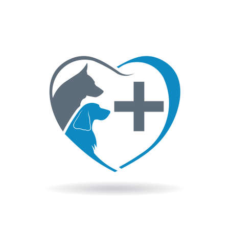 Veterinary care icon. Vector graphic design