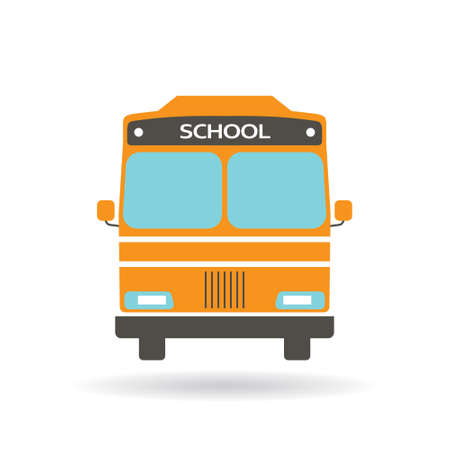 covered: School bus icon. Vector graphic design Illustration