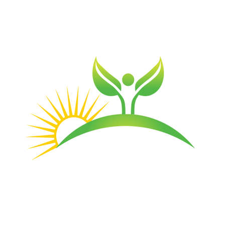 carbon emission: Cuktivated plant in nature icon. Vector graphic design Illustration