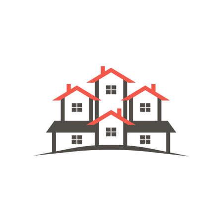 condo: Condo houses icon. Vector graphic design