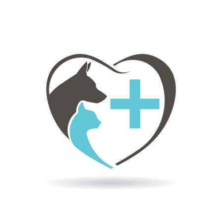 Veterinary icon. Vector graphic design