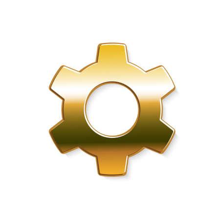 Golden gear . Vector graphic design