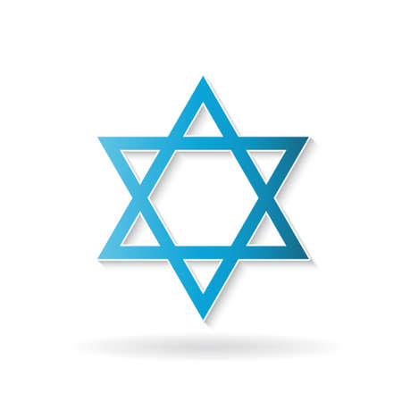 holocaust: Star of David, judaism symbol. Vector design