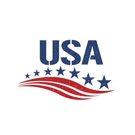 patriot: Vintage USA Patriot . Vector graphic illustration Illustration