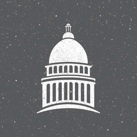 USA capitol vintage style. Vector graphic design