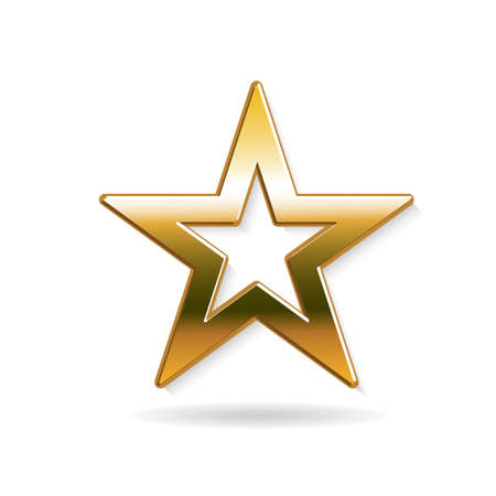 Golden Star . Vector graphic design Illustration
