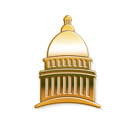 congresses: Golden Capitol logo. Vector graphic design