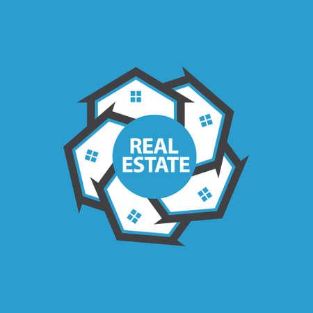 sold small: Real Estate Graphic Illustration. Vector logo design