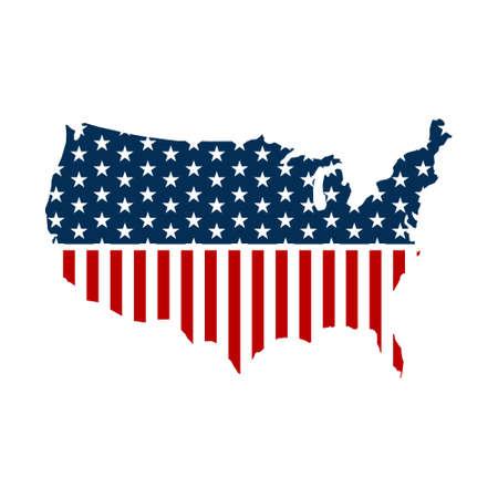 continente americano: Estados Unidos mapa pattic gráfico. Vector ilustración de diseño Foto de archivo