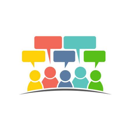 gruppo di social media di persone commenti. disegno vettoriale logo