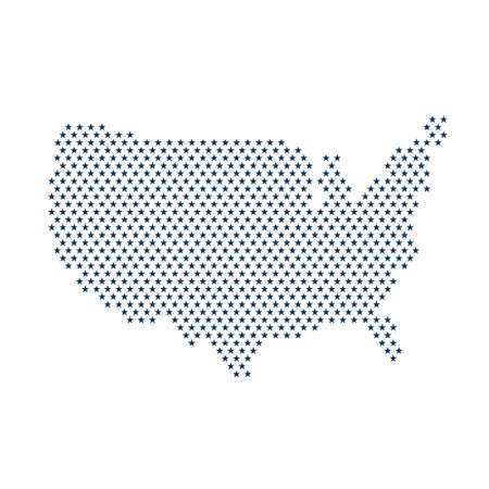 nations: USA stars map graphic. Vector design illustration