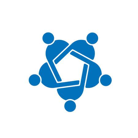 alliance: People Group Teamwork Logo. Vector graphic design illustration