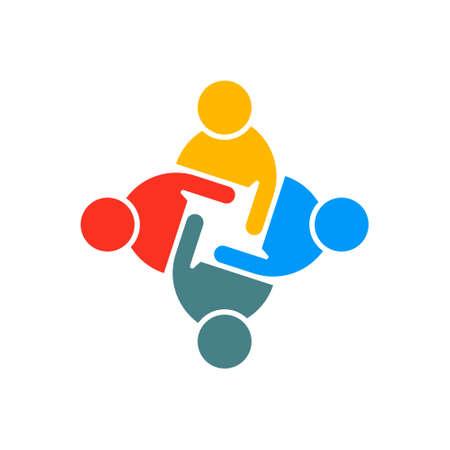 People Group Teamwork. Vector graphic design illustration Illustration