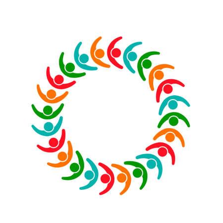 People Group Association Teamwork. Vector graphic design illustration