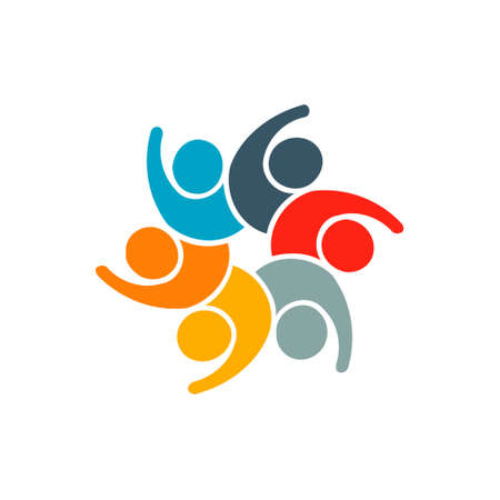 People Group Participation Logo. Vector graphic design illustration