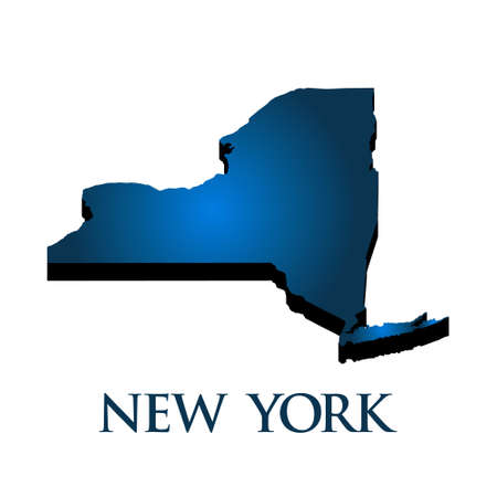 state: 3D Graphic Map Of New York State