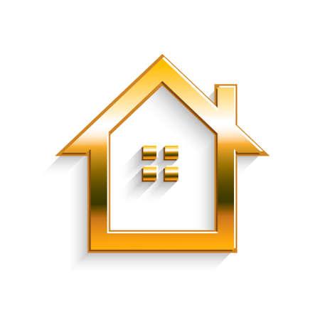 real: Golden House Real Estate Illustration