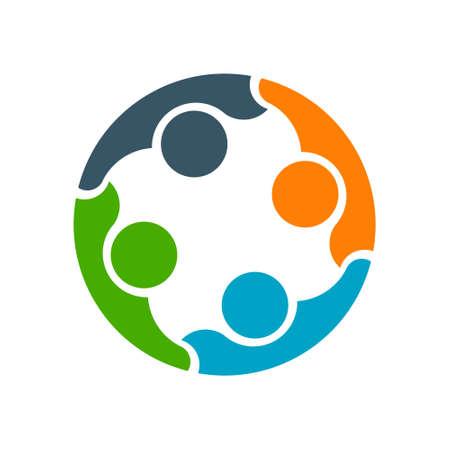 友人間のビジネス協力。ロゴのデザイン  イラスト・ベクター素材