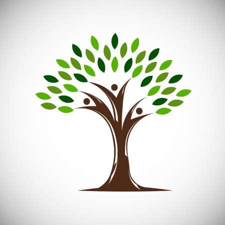 People Life Tree. Vector Illustration