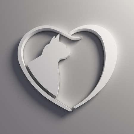 socializando: Amor del gato del corazón.