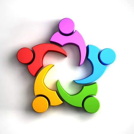 Group of people in a circle. Meeting concept.  Stock Photo