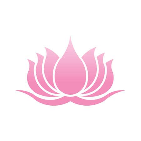massage symbol: Lotus Flower Logo. Vector Design Illustration