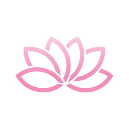 Lotus Flower Logo. Vector Illustration