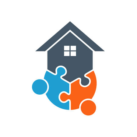 People House Connection. Vector Graphic