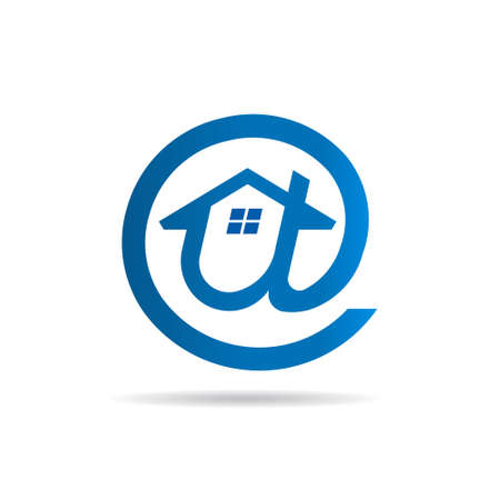 mobile app: Internet email symbol with a House shape