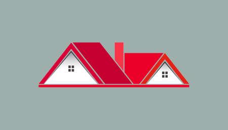 Pink House For Real Estate Logo Design