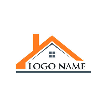 Roof House and Logo Name Illustration Illustration