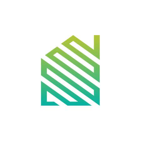 for rental: Abstract Green House Logo Design Illustration