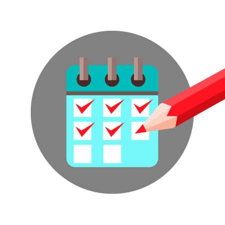 cut paper: Check List Agenda with Check Mark Icon