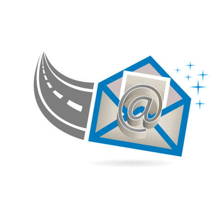 Email Received from Internet Road Logo Illustration