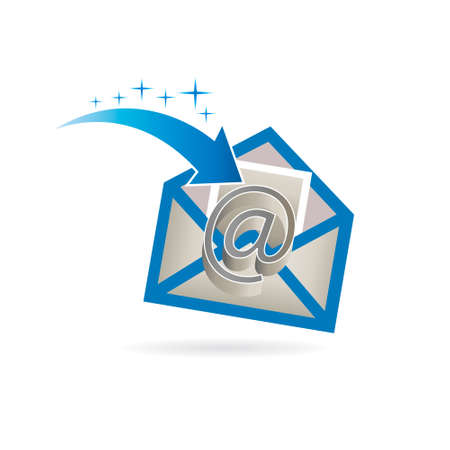 contact: Email Just Received Logo Illustration
