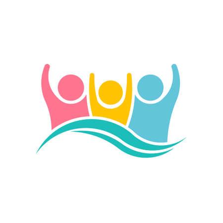 Happy Family People Logo Design Illustration