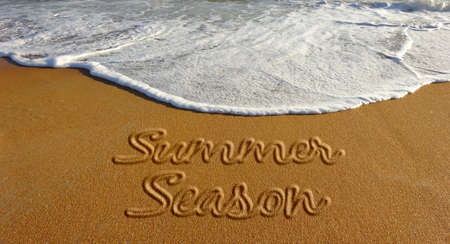 Summer Season Beach Sand Text