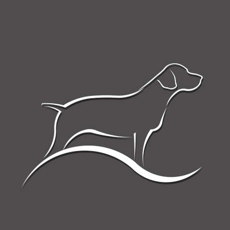 Dog Silhouette Logo. Vector Illustration Stock Illustratie