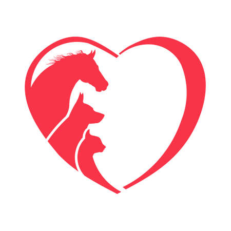 Horse, Dog, Cat Animal Lover Logo