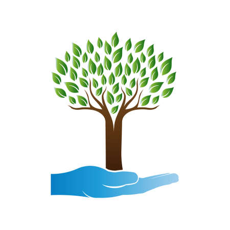 Tree Care Logo Vettoriali