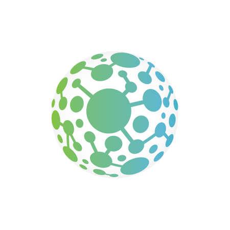 Global Network Vector Icon Vettoriali